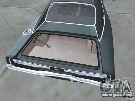 Dodge Charger 1969 für GTA San Andreas Innenansicht