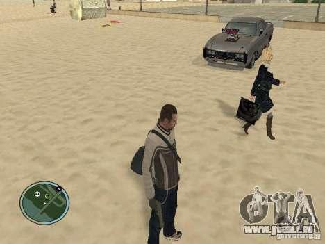 Pedy avec sacs et téléphones pour GTA San Andreas