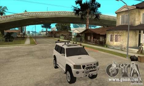 Nissan Patrol 2005 für GTA San Andreas Rückansicht