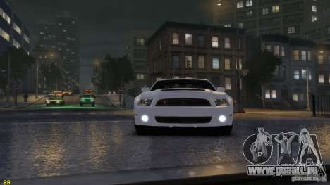 Ford Shelby Mustang GT500 2011 v2.0 pour GTA 4 est une gauche