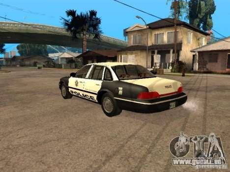 Ford Crown Victoria 1994 Police pour GTA San Andreas laissé vue