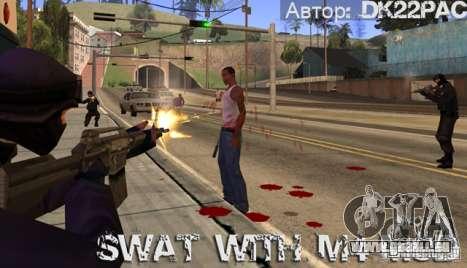 SWAT est armé avec M4 pour GTA San Andreas