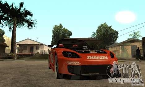 Honda S2000 CHARGESPEED für GTA San Andreas Rückansicht