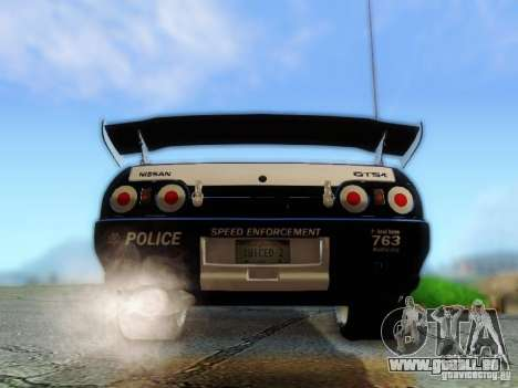Nissan Skyline R32 Police pour GTA San Andreas vue intérieure