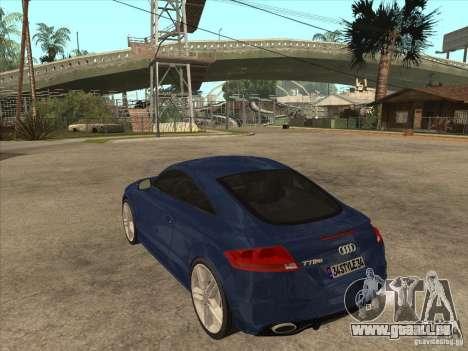 Audi TT RS 2010 pour GTA San Andreas sur la vue arrière gauche