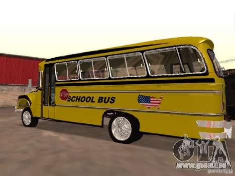 Bedford School Bus pour GTA San Andreas laissé vue