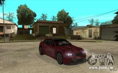 BMW M3 2009 pour GTA San Andreas vue arrière