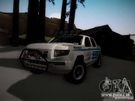 Honda Ridgeline Baja White pour GTA San Andreas sur la vue arrière gauche