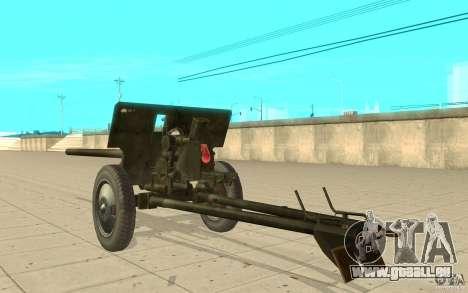 Kanone ZiS-2 für GTA San Andreas zurück linke Ansicht