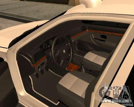 Peugeot 406 Taxi 2 für GTA San Andreas rechten Ansicht