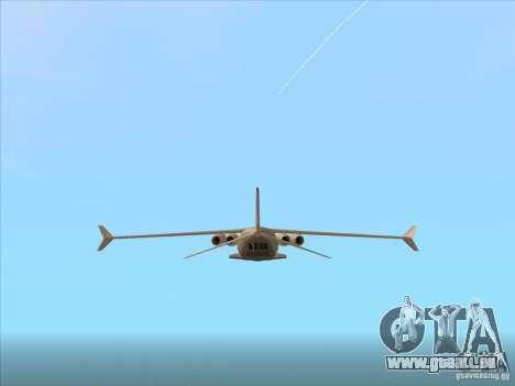 Cargo Shamal pour GTA San Andreas vue de droite