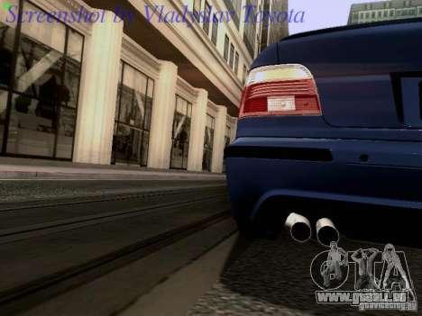 BMW E39 M5 2004 pour GTA San Andreas vue de dessus