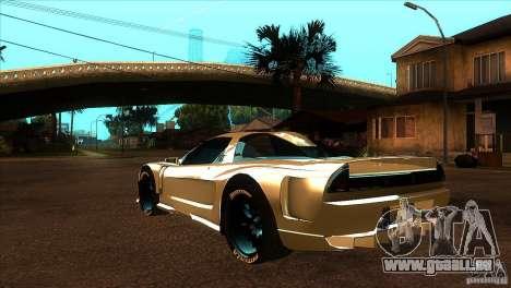 Honda NSX Extreme pour GTA San Andreas sur la vue arrière gauche