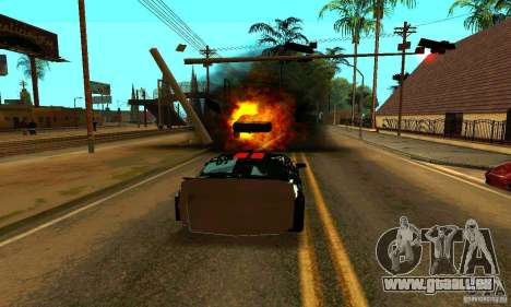 Ford Mustang Shelby GT500 From Death Race Script pour GTA San Andreas vue de dessus