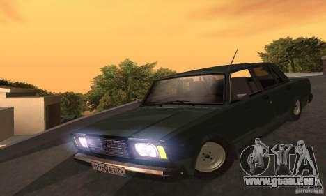 VAZ 2107 v. 3 für GTA San Andreas Rückansicht