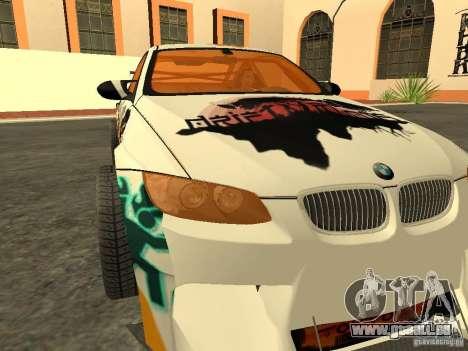 BMW M3 E92 DriftRoots pour GTA San Andreas vue de droite
