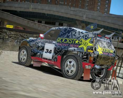 Mitsubishi Pajero Proto Dakar EK86 Vinyl 1 für GTA 4 hinten links Ansicht