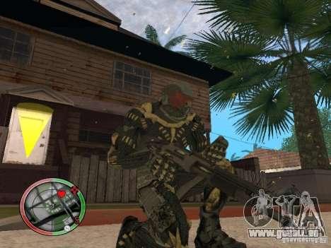 Sammlung von Waffen von Crysis 2 für GTA San Andreas siebten Screenshot