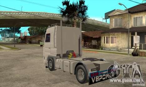 Scania 143M 500 V8 für GTA San Andreas zurück linke Ansicht