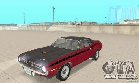 Plymouth Cuda AAR 340 1970 für GTA San Andreas