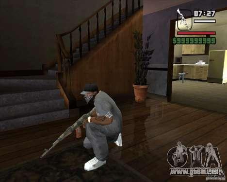 Kalash de METRO 2033 pour GTA San Andreas troisième écran