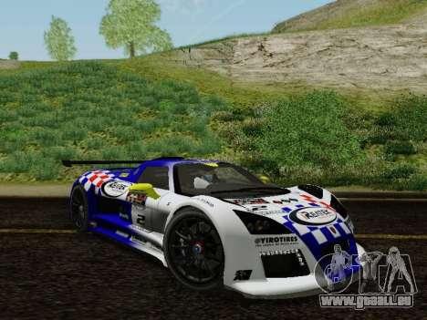 Gumpert Apollo S 2012 pour GTA San Andreas vue de dessus