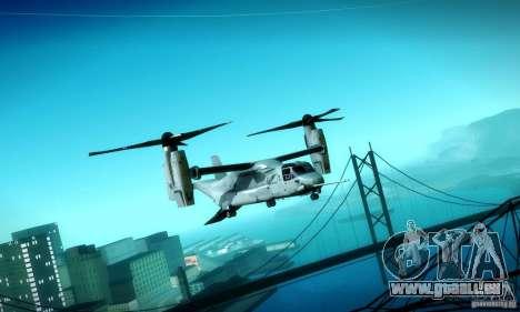 MV-22 Osprey für GTA San Andreas Innenansicht
