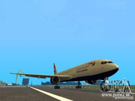 Boeing 767-300 British Airways für GTA San Andreas linke Ansicht