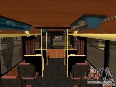 LIAZ 677p pour GTA San Andreas vue intérieure