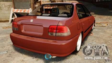 Honda Civic iES pour GTA 4 Vue arrière de la gauche