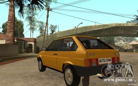 VAZ Lada Samara 2108 Sport pour GTA San Andreas sur la vue arrière gauche