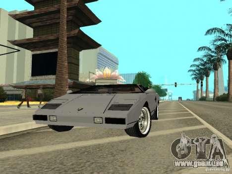 Lamborghini Countach LP400 pour GTA San Andreas vue de droite