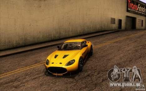 Aston Martin Zagato V12 V1.0 für GTA San Andreas Unteransicht