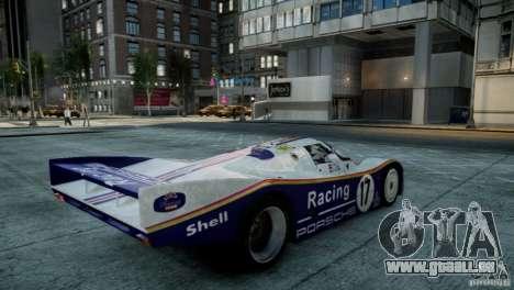 Porsche 962 pour GTA 4 Vue arrière de la gauche