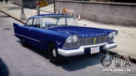 Plymouth Savoy Club Sedan 1957 für GTA 4 Rückansicht
