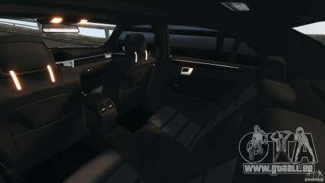 Mercedes-Benz E63 AMG 2010 pour GTA 4 est une vue de l'intérieur