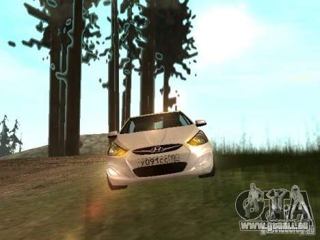 Hyundai Solaris pour GTA San Andreas sur la vue arrière gauche