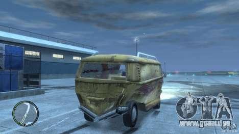 VW Transporter T2 pour GTA 4 vue de dessus
