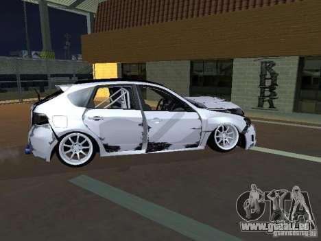 Subaru Impreza STI hellaflush für GTA San Andreas Innenansicht