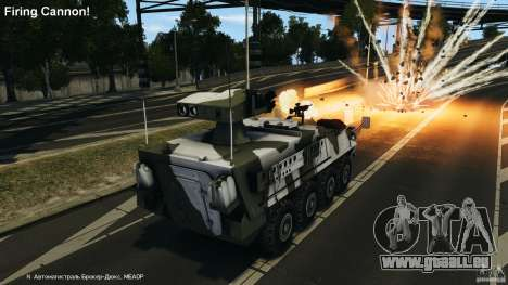 Stryker M1134 ATGM v1.0 pour GTA 4 vue de dessus