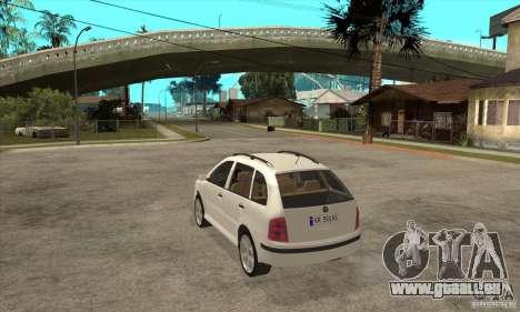 Skoda Fabia Combi pour GTA San Andreas sur la vue arrière gauche