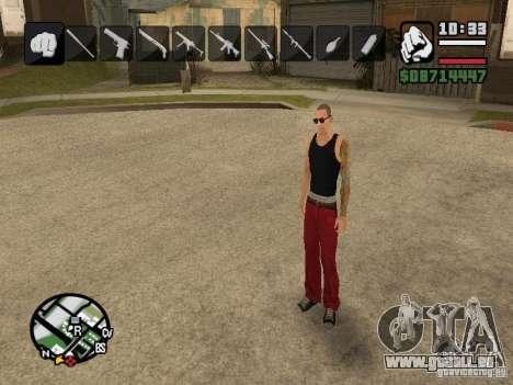 Symbole beim Ändern von Waffen für GTA San Andreas zweiten Screenshot