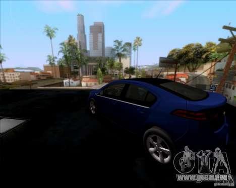 Chevrolet Volt 2012 Stock für GTA San Andreas zurück linke Ansicht
