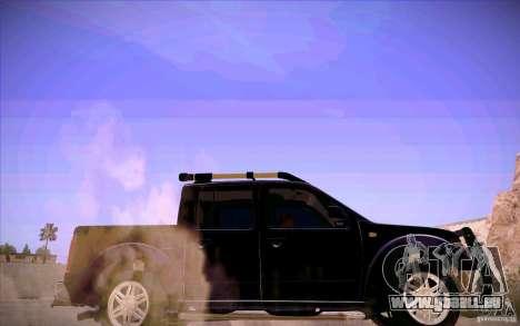 Nissan Fronter pour GTA San Andreas vue de dessous
