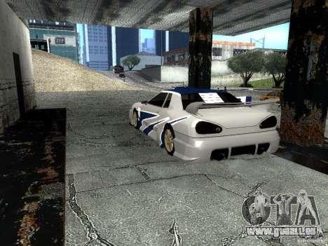 Vinyle avec la BMW M3 GTR dans Most Wanted pour GTA San Andreas sur la vue arrière gauche