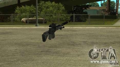 EBR MK14 avec un silencieux pour GTA San Andreas cinquième écran