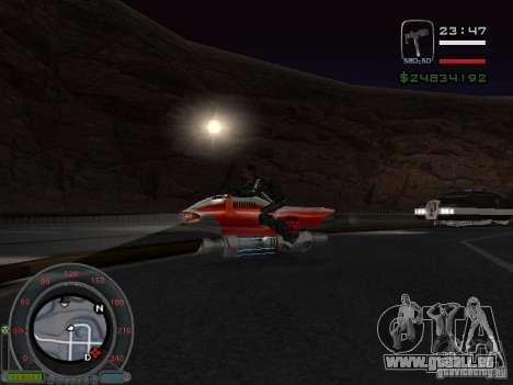 NEW NRG-500 pour GTA San Andreas sur la vue arrière gauche