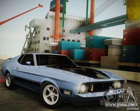 Ford Mustang Mach1 1973 für GTA San Andreas zurück linke Ansicht