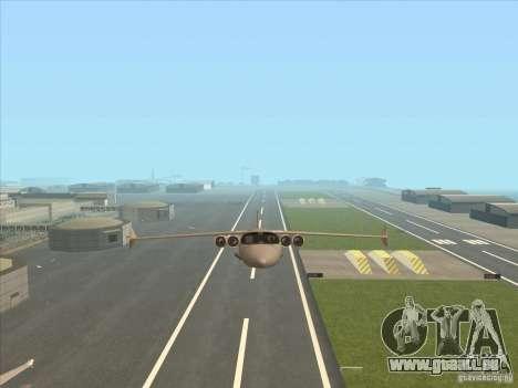 Cargo Shamal pour GTA San Andreas vue de côté