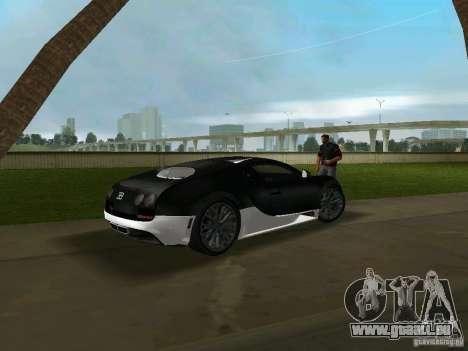 Bugatti Veyron Extreme Sport pour GTA Vice City sur la vue arrière gauche